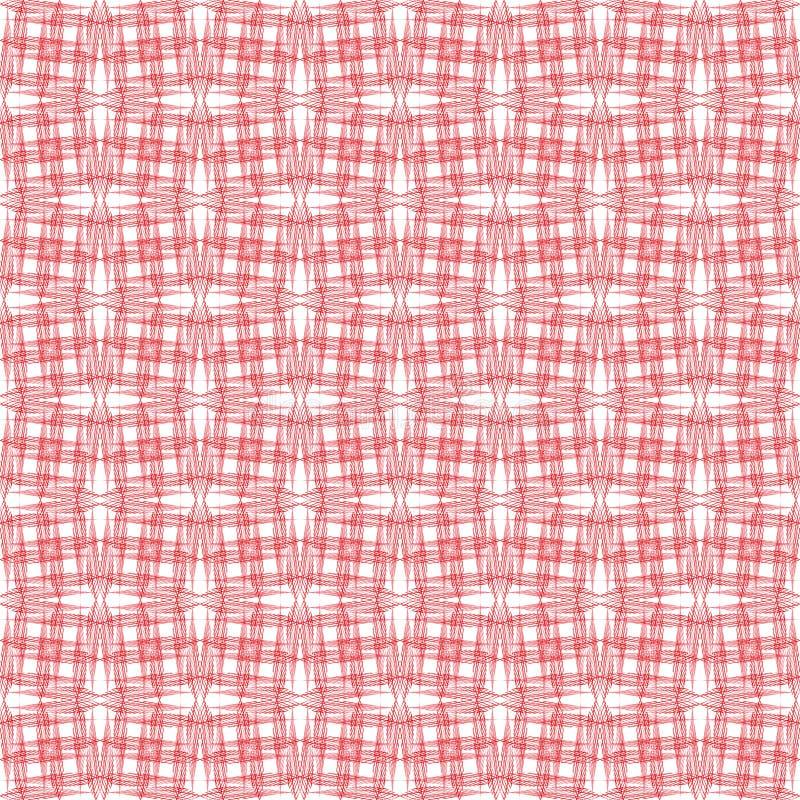 Raster czerwień cieniący punkty na białym tle, prosty abstrakta wzór royalty ilustracja