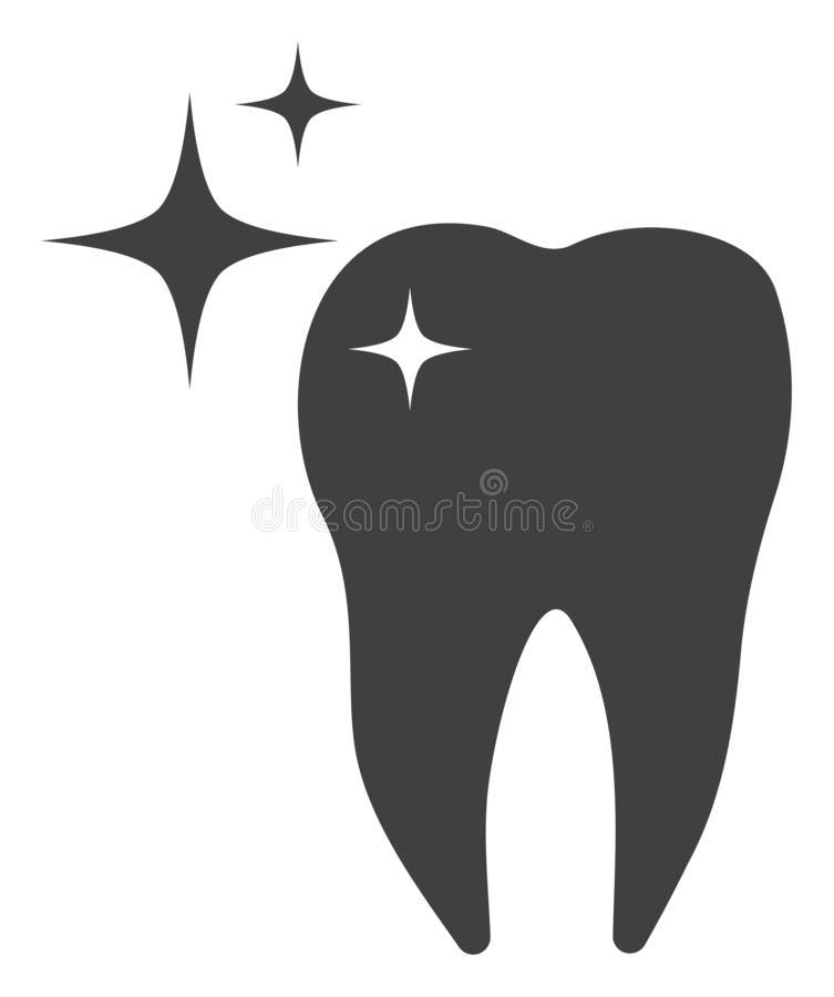 Raster Excellent Tooth Icon vector illustration