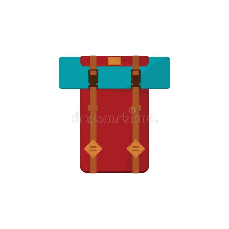 Raster flat backpack vector illustration