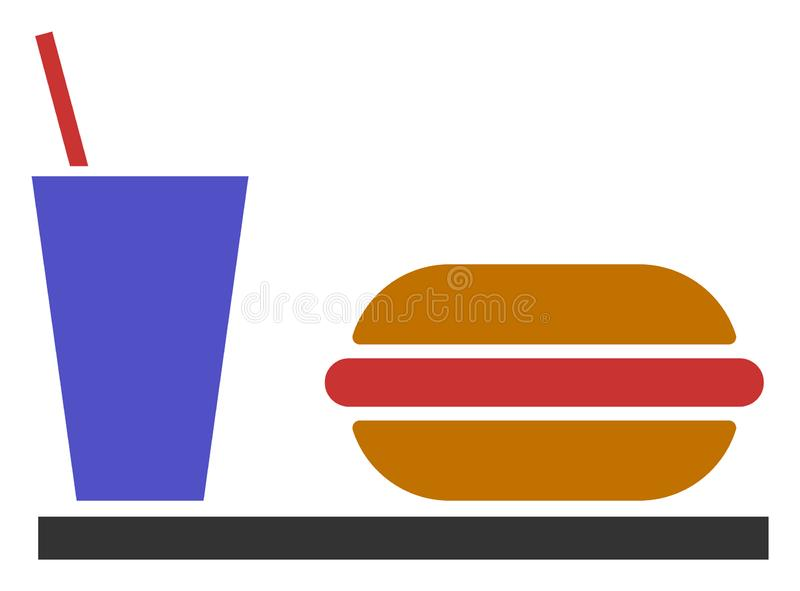 Raster Flat Fastfood Icon vector illustration