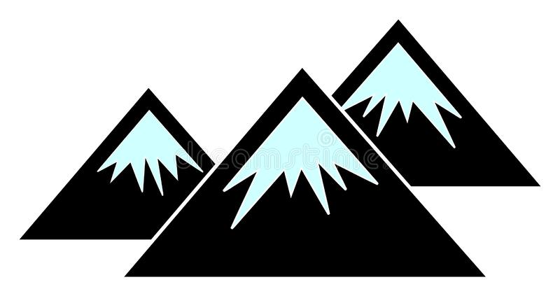 Raster Flat Mountains Icon vector illustration