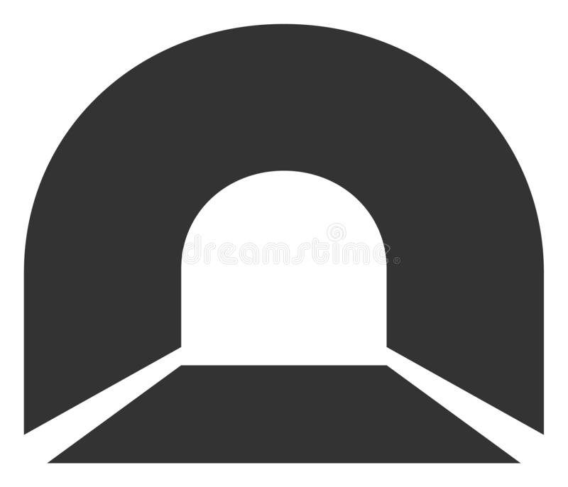 Raster Flat Tunnel Icon royalty free illustration