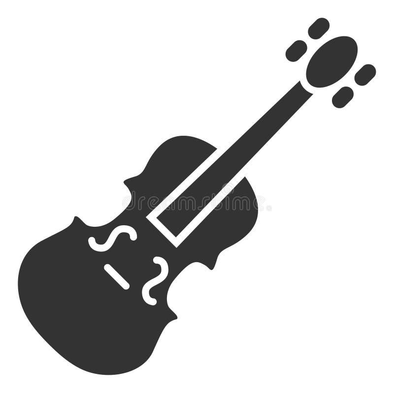 Raster Flat Violin Icon vector illustration