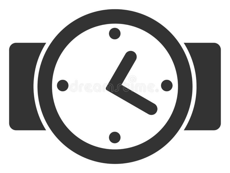 Raster Flat Watches V4 Icon stock illustration