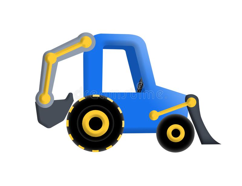 Illustration of tractor royalty free stock image