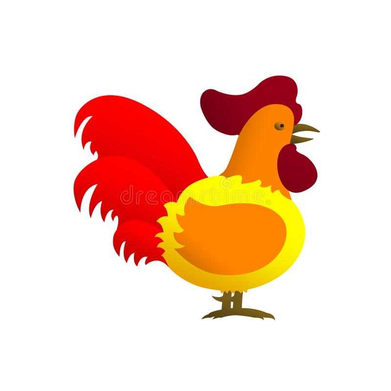 Illustration of rooster royalty free stock photography