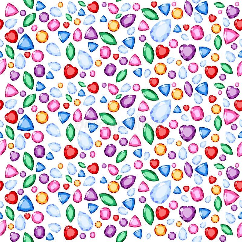 Raster ilustracja dla tęczy barwi klejnoty i kryształy dla świętej geometrii pojęcia tapety lub tła ilustracji