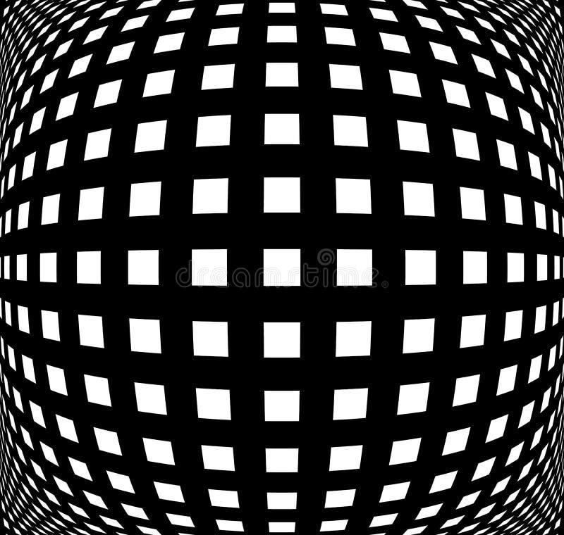 Raster ingreppsmodell med distorsion abstrakt geometrisk modell vektor illustrationer