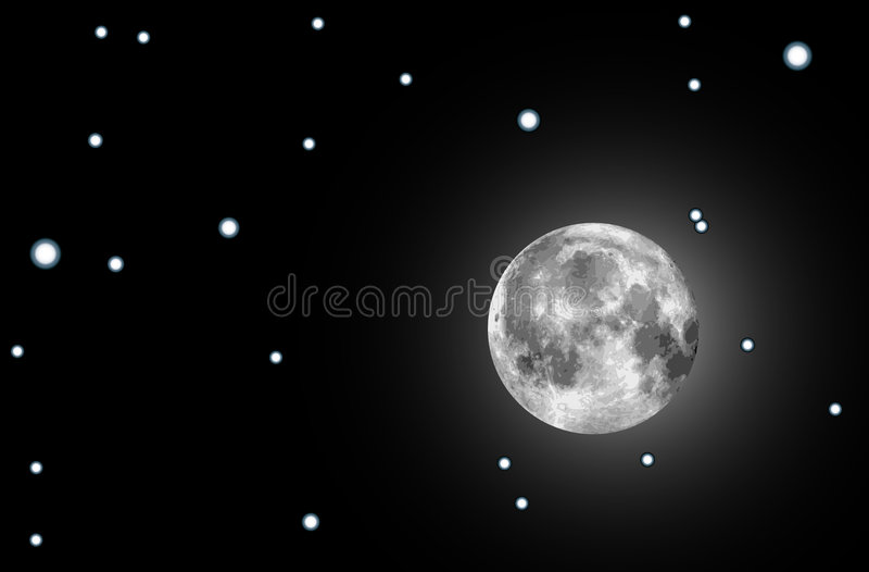 Download Raster moon illustration stock vector. Image of orbit - 7608912