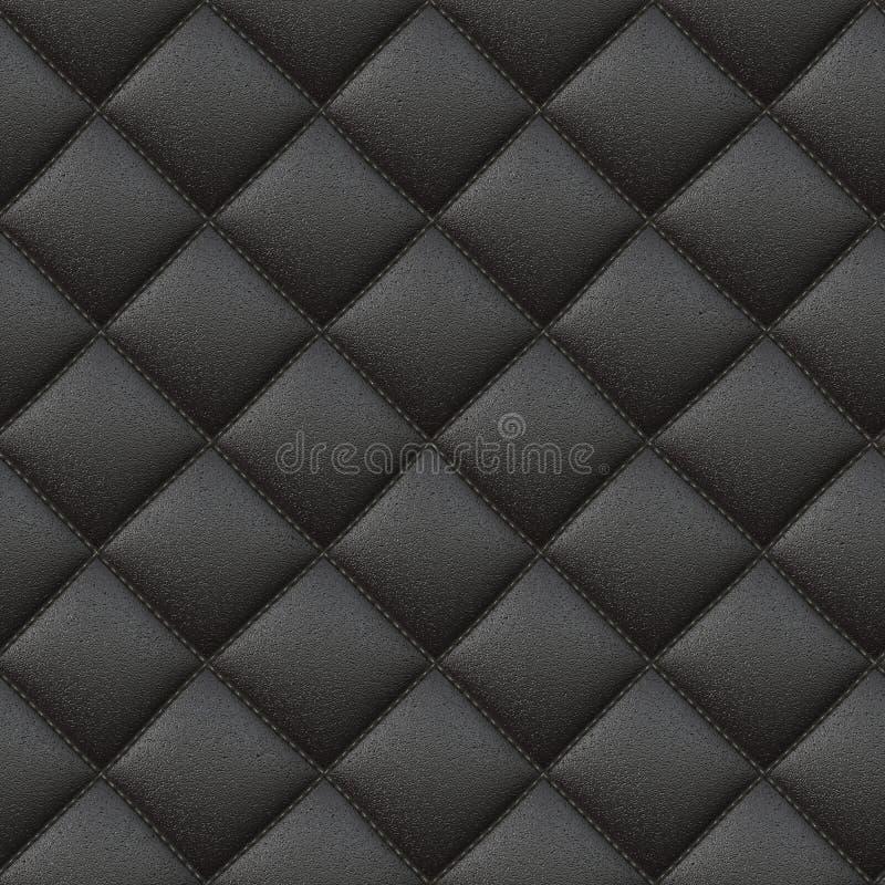 Raster-nahtloses Zellleder-Muster vektor abbildung