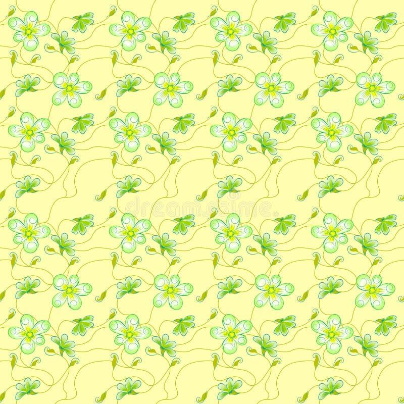 Raster, patrón femenino sin fisuras para el diseño de textiles, papel pintado, papel de envoltura, fondo para invitaciones, tarje libre illustration