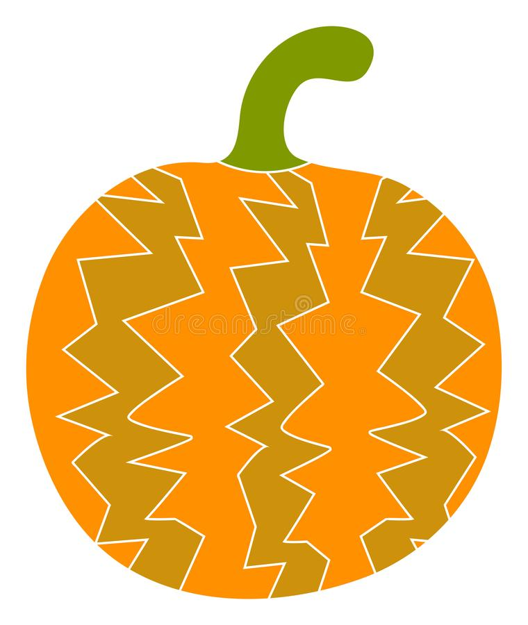 Raster Flat Pumpkin Icon stock illustration