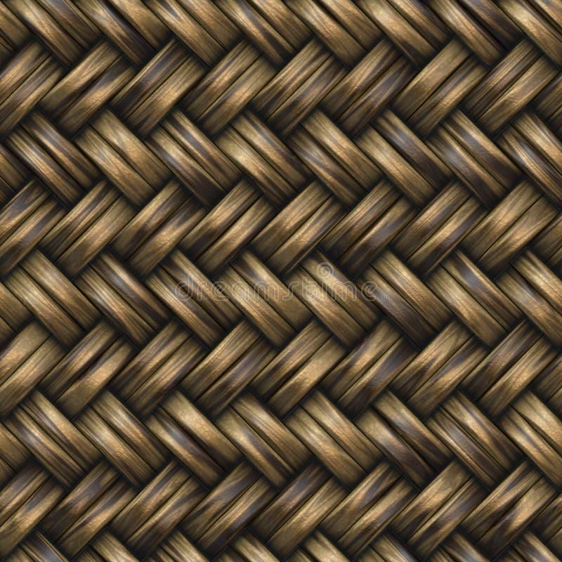 Raster Seamless Basket Twill Weave Pattern royalty free stock photo