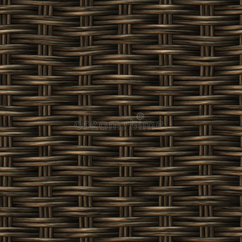 Raster Seamless Basket Wooden Weave Pattern royalty free stock photography