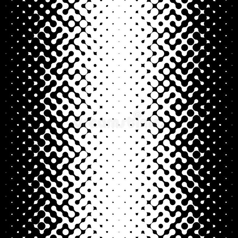 Line Art Vs Halftone : Raster seamless black and white truchet halftone gradient