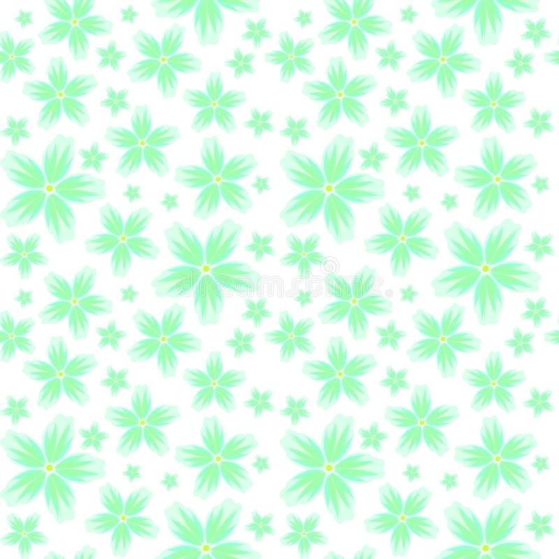 Seamless floral background with a pattern of large and small flowers in pastel colors. Raster seamless floral background with a pattern of large and small stock illustration