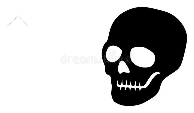 Raster Flat Skull Icon vector illustration