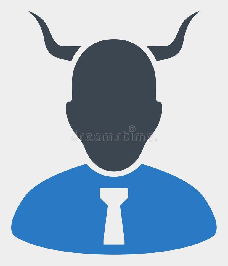 Raster-Teufel-Ikone auf weißem Hintergrund lizenzfreie abbildung