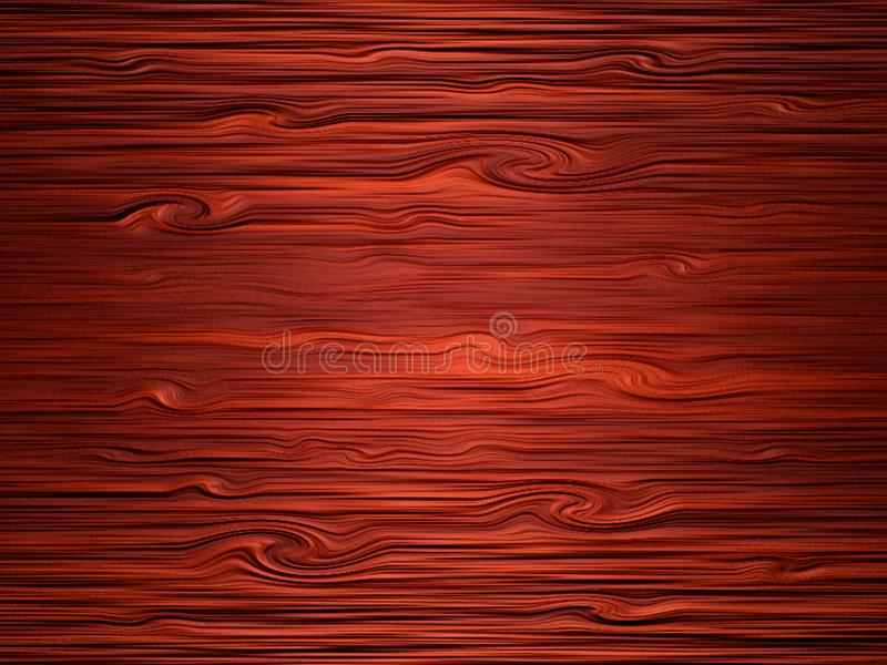 Simple wooden texture. Raster texture of dark polished wood stock illustration