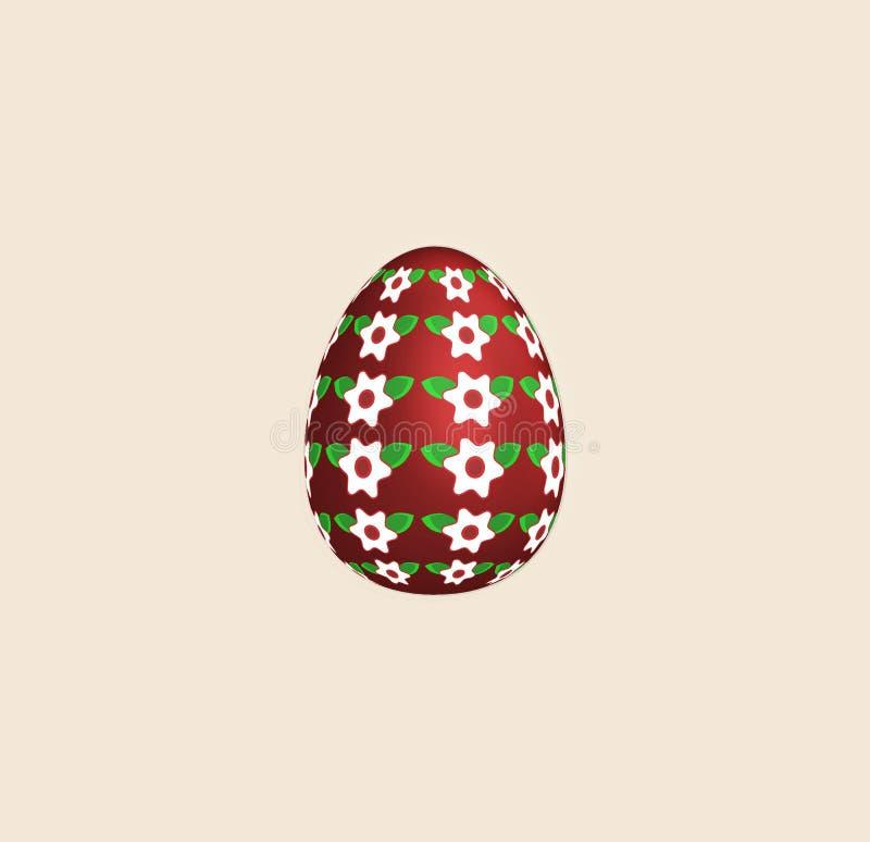 Raster version. Color painted easter Egg. illustration isolated on light background for design. Easter concept. Raster version. Color painted easter Egg stock illustration