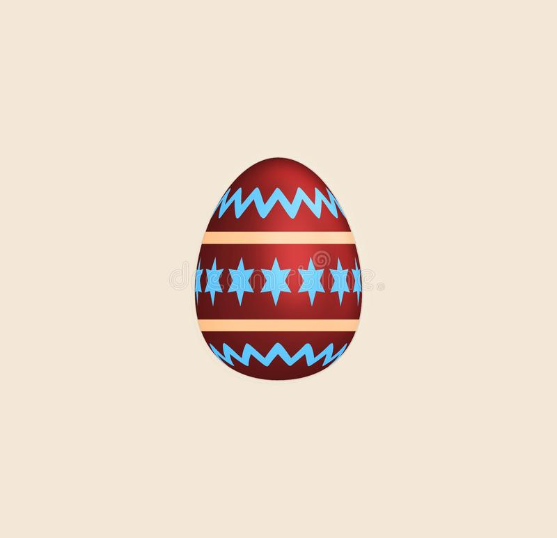 Raster version. Color painted easter Egg. illustration isolated on light background for design. Easter concept. Raster version. Color painted easter Egg vector illustration