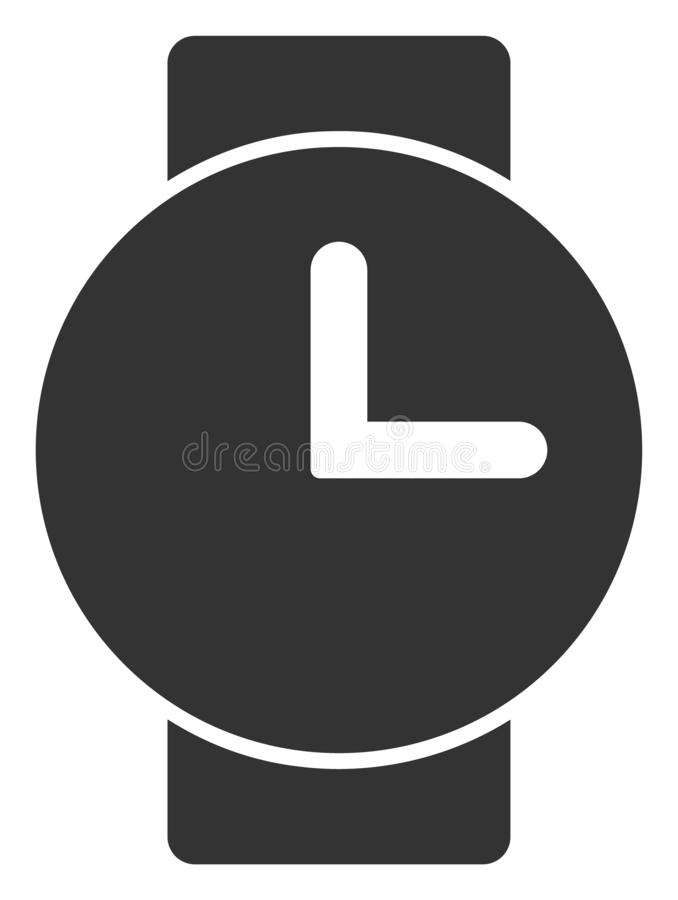 Raster Flat Watches V3 Icon stock illustration