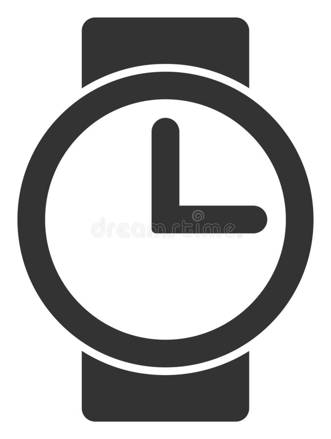 Raster Flat Watches V2 Icon vector illustration