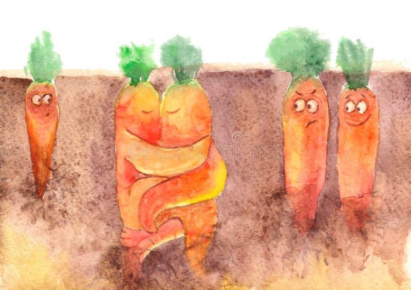 Carrot love royalty free illustration