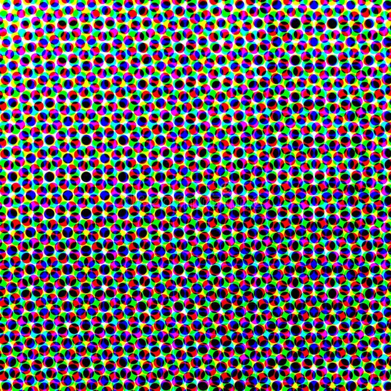 Rasterbakgrund av kulöra cirklar stock illustrationer