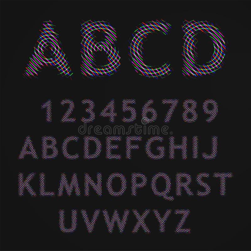 Rasterbuchstaben stock abbildung