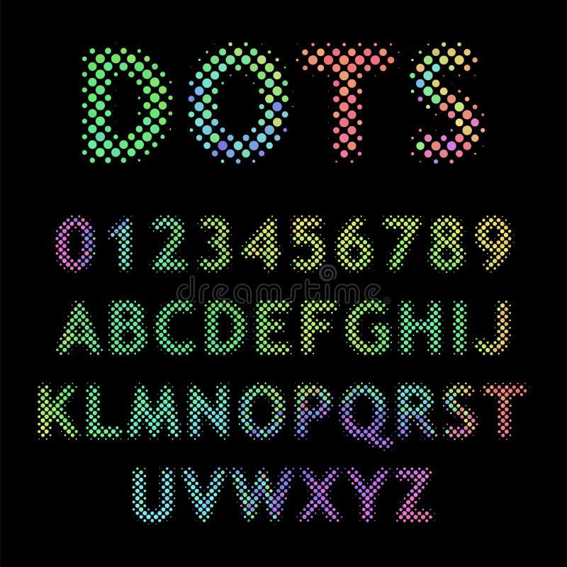 Rasterbuchstaben vektor abbildung