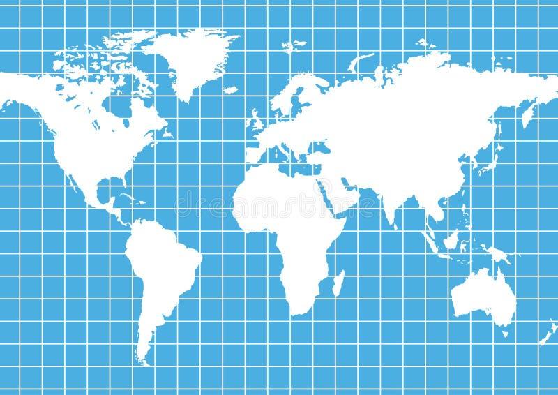 Rasterfeld-Weltkarte lizenzfreie abbildung