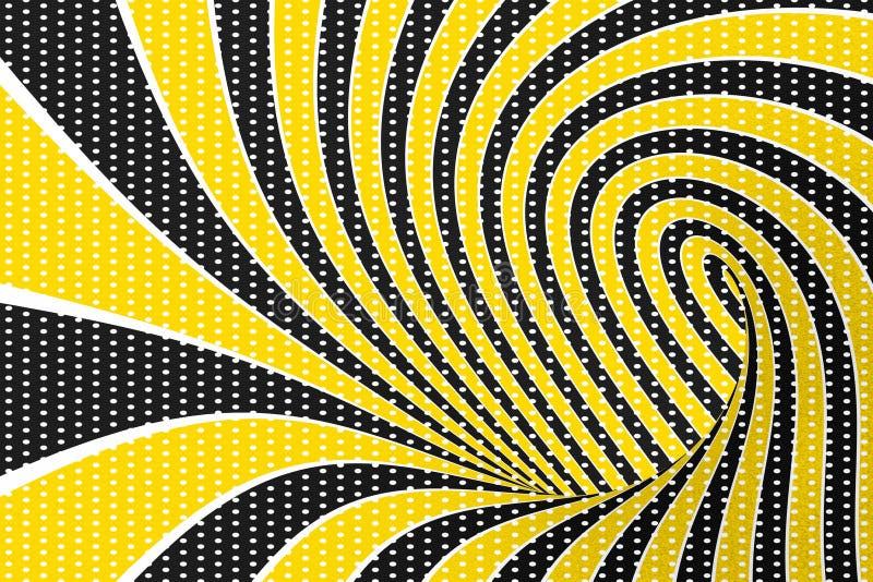 Rasterillustration der Illusion 3D des Torus optische Verdrehen von Schleifen und von Stellenmuster Hypnotisches Bild des Unendli lizenzfreie abbildung