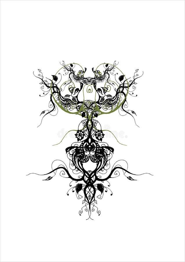 rasterized的设计花卉例证 向量例证