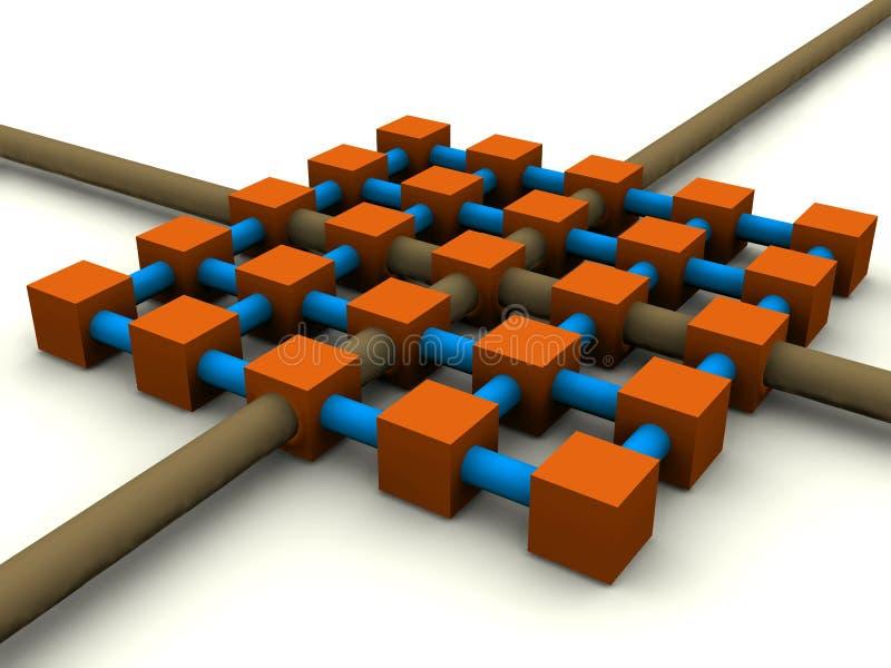 rasternätverk vektor illustrationer
