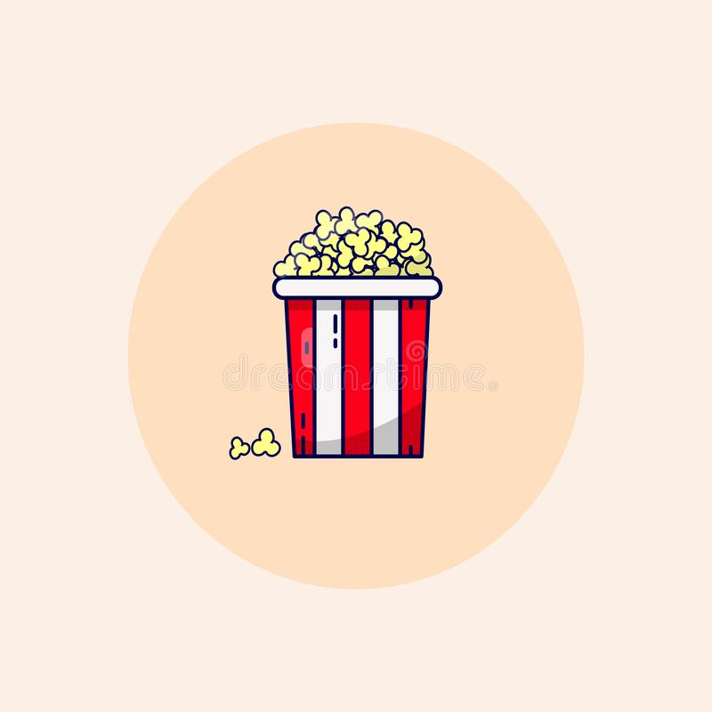 Rasterpopcorn-Kinoeimer in den Pastellfarben lizenzfreie abbildung
