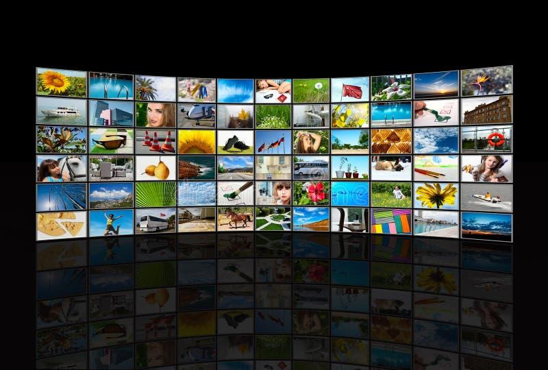 Rastert Multimediapanel lizenzfreie abbildung