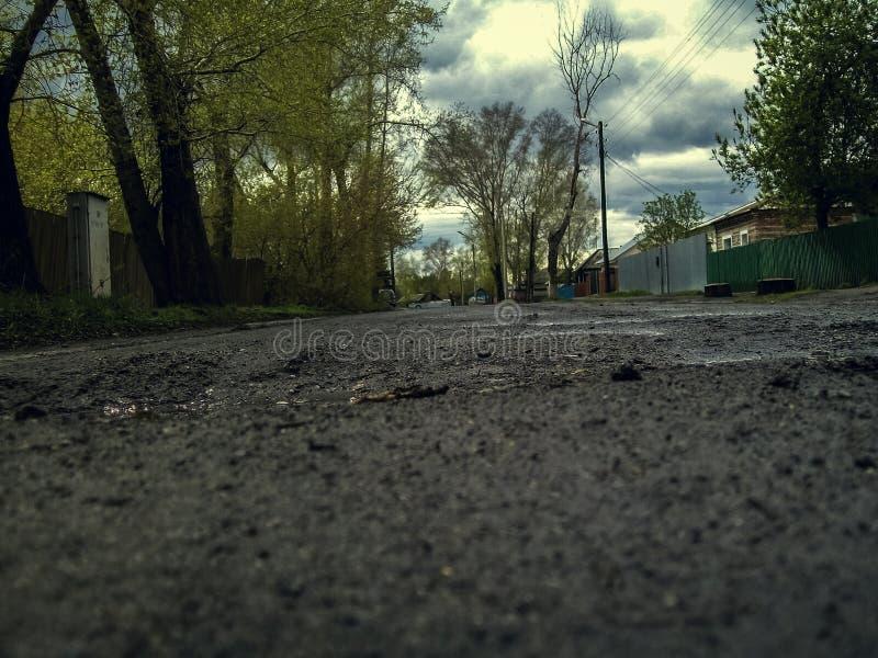 Rastic-Straße von unterhalb lizenzfreie stockfotografie