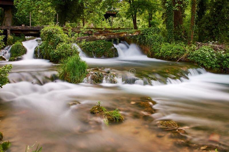 Rastoke瀑布,克罗地亚 免版税图库摄影