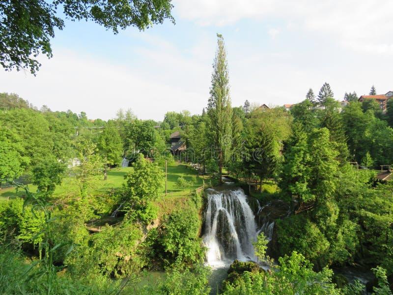 Rastoke,克罗地亚瀑布  库存图片