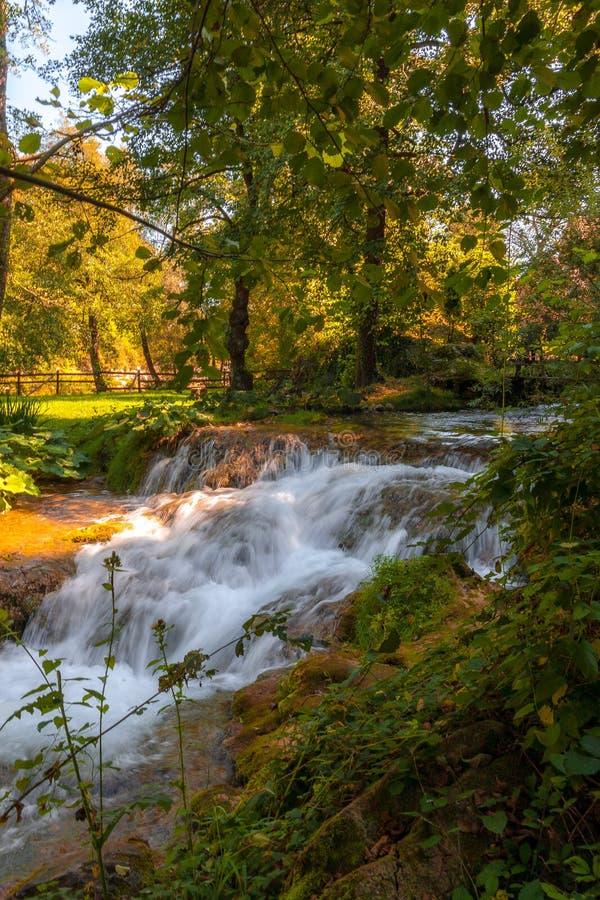 Rastoke near Plitvice national park in Croatia stock image
