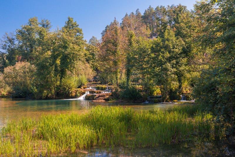 Rastoke near Plitvice national park in Croatia royalty free stock photography