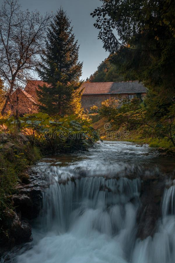 Rastoke near Plitvice national park in Croatia stock photos