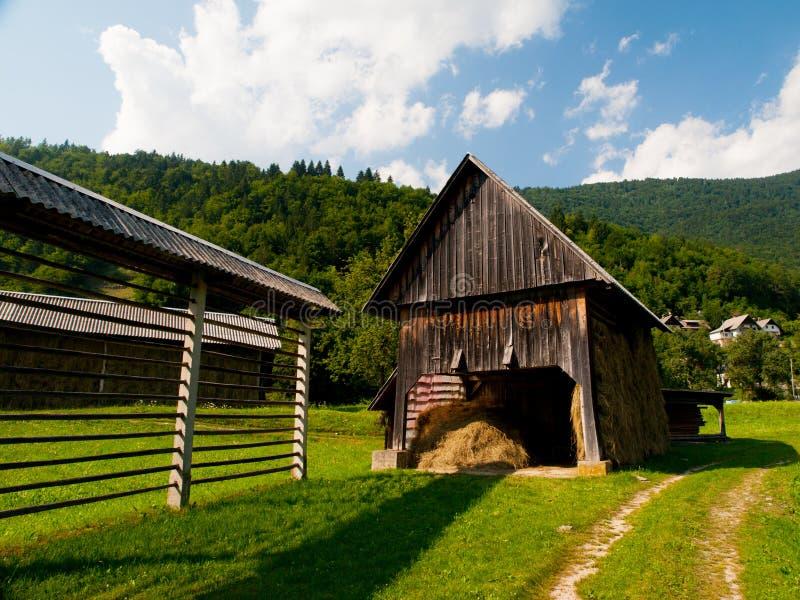 Download Rastrelliera Per Il Fieno E Tettoia In Villaggio Sloveno Fotografia Stock - Immagine di giorno, europa: 56883628