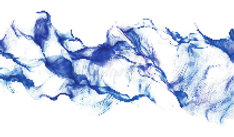 Rastrerad dynamisk bakgrund stock illustrationer