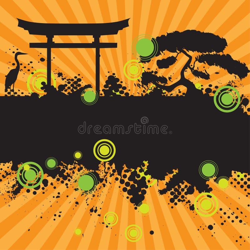 rastrerad färgpulversplat för grunge stock illustrationer