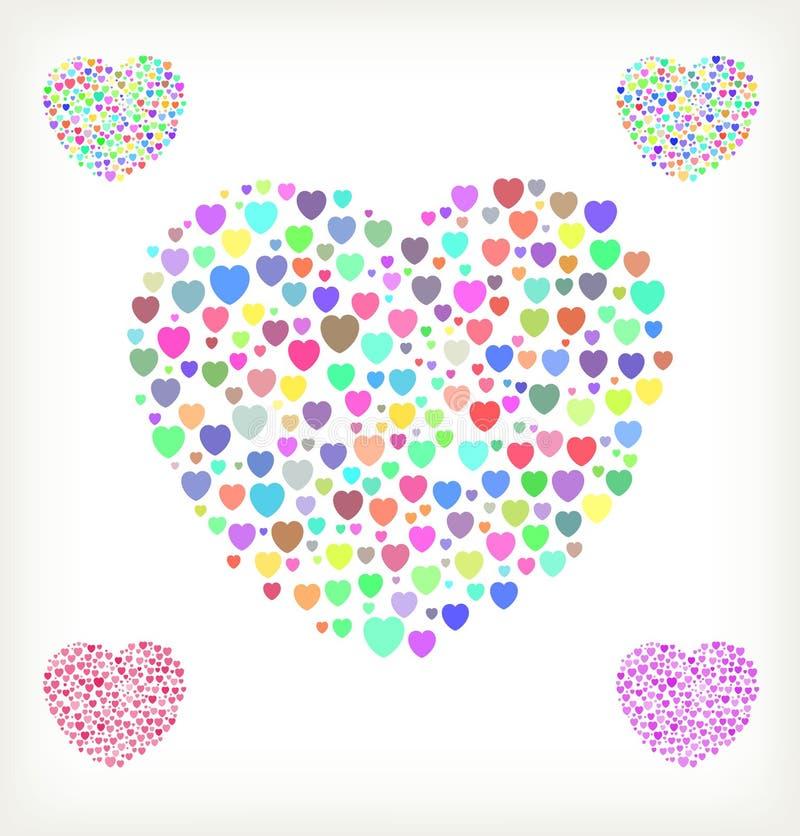 Rastrerad hjärta vektor illustrationer
