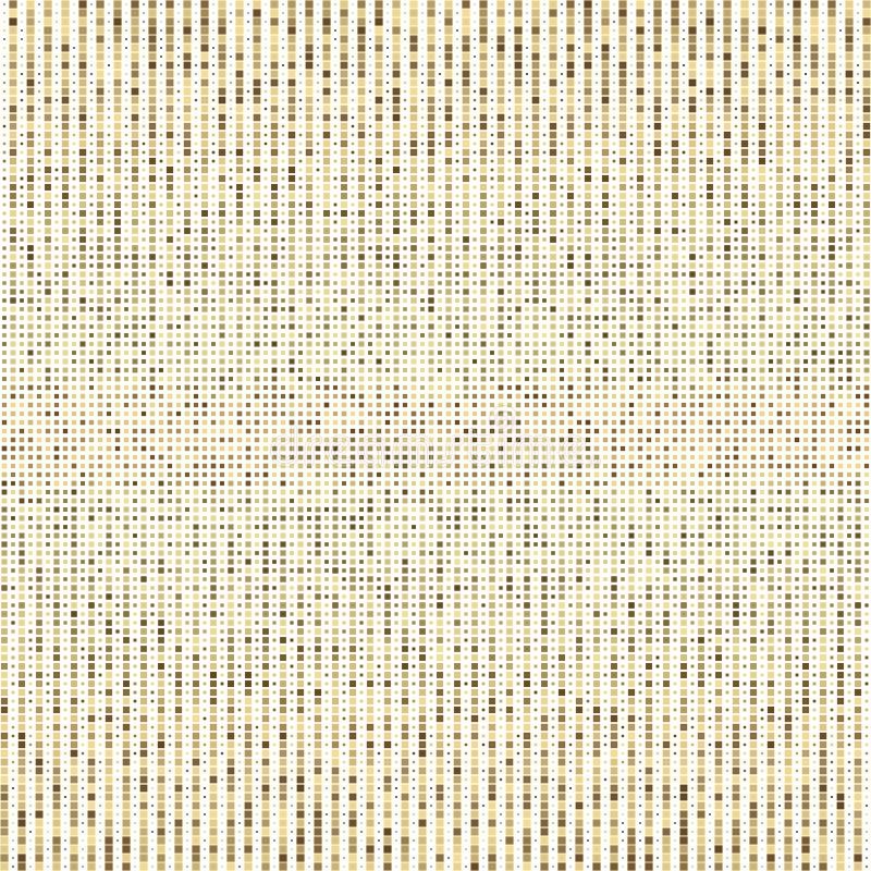 Rastrerad illustratör Rastrerade prickar Guld- PIXEL på vit bakgrund Rastrerad textur för vektor royaltyfri illustrationer