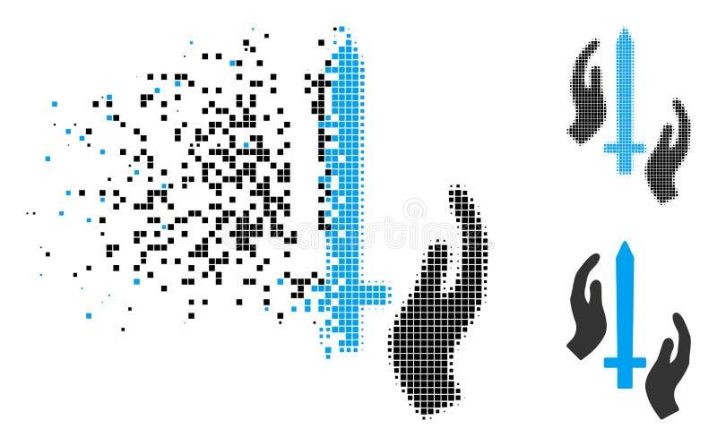 Rastrerad klassisk vakt Icon för upplöst PIXEL royaltyfri illustrationer