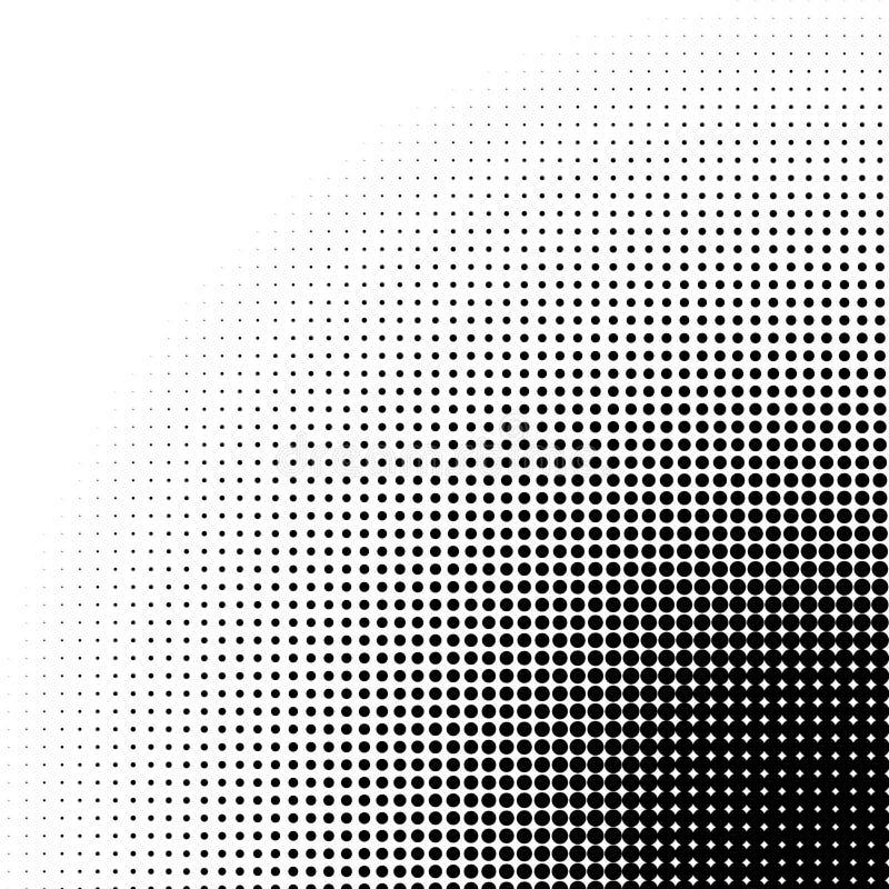 Rastrerad modell/textur för cirkel Monokromma halvtonprickar vektor illustrationer